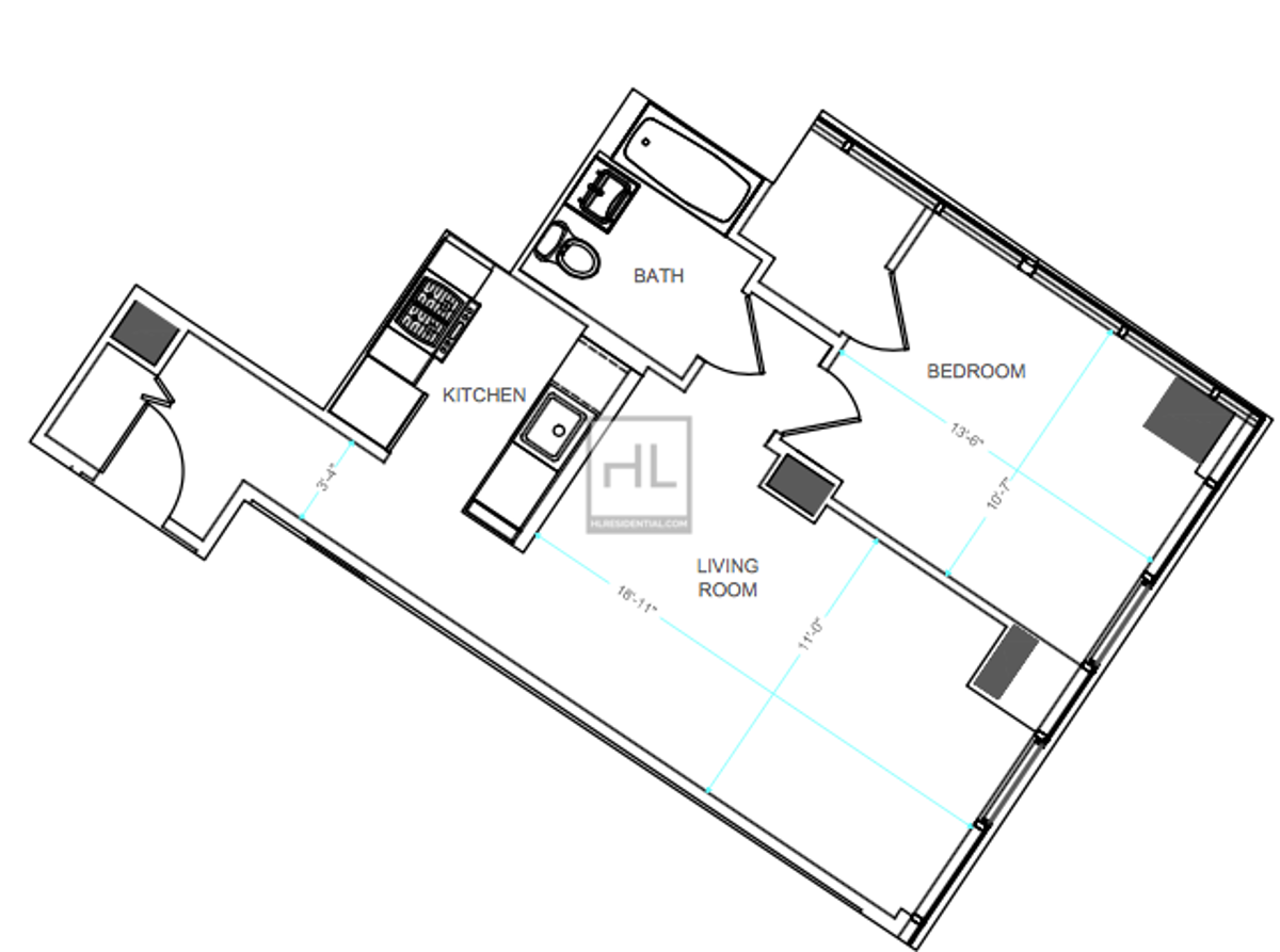 Image for NO FEE :  Corner Layout One Bedroom. Great Night life + Culture + 13 Subway Lines + Great Lifestyle = Perfect. (I never show just one apartment. Google me.)